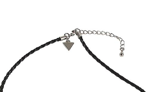 Guess Guess Branded Leather Cord with Phoenix &Powderhorn Pendants-Necklace.