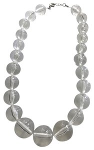 So fun acrylic lucite large bead necklace