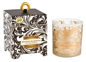 Michel Design Works Black Florentine Small Soy Candle 6.5oz - Scent: Honey Almond (Brand New)