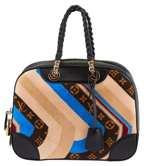 Preload https://item2.tradesy.com/images/louis-vuitton-bowling-vanity-tuffetage-multicolor-leather-and-velvet-satchel-3990766-0-0.jpg?width=440&height=440