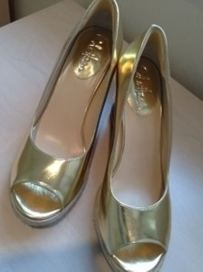 Cole Haan Gold Wedges