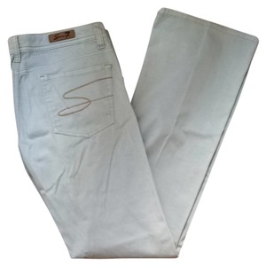 7 For All Mankind Lo-rise Straight Jean Straight Pants Light Grey