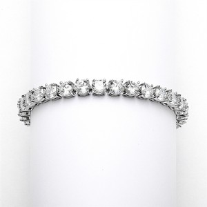 Mariell Glamorous Silver Rhodium Bridal Or Prom Tennis Bracelet In Petite Size 4127b-s-6