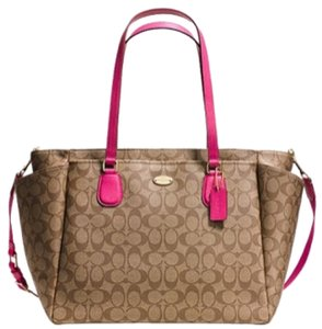 Coach Saddle and Pink Diaper Bag