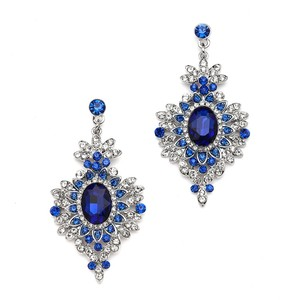 Mariell Retro Glam Crystal Drop Earrings For Prom Or Weddings 4131e-ry