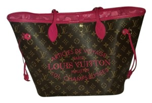 Louis Vuitton Tote in Brown and fushia