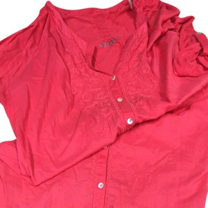 Code Bleu Button Down Shirt Coral