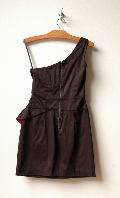 French Connection One Shoulder Peplum Dress