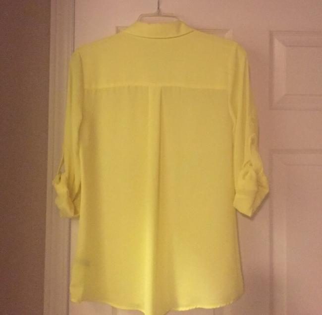 Express Button Down Shirt Yellow