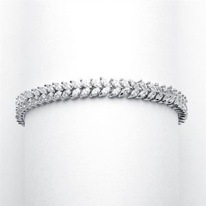 Mariell Red Carpet Double Marquis Cz Wedding Bracelet 4199b