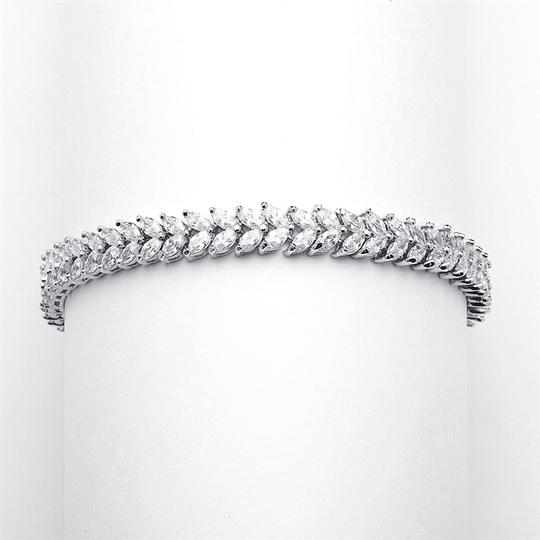 Mariell Silver Red Carpet Double Marquis Cz 4199b Bracelet