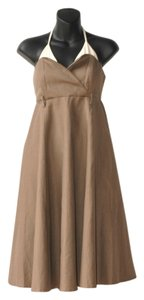 short dress brown Full Strapless Gown on Tradesy