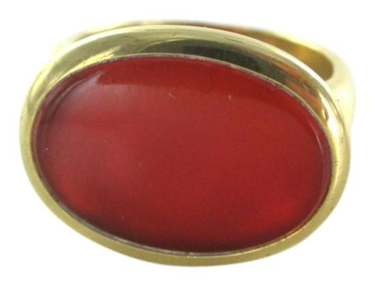 Other 18K SOLID YELLOW GOLD RING SARDONYX SZ 8 OVAL 11.3 GRAMS WEDDING BAND ENGAGEMENT