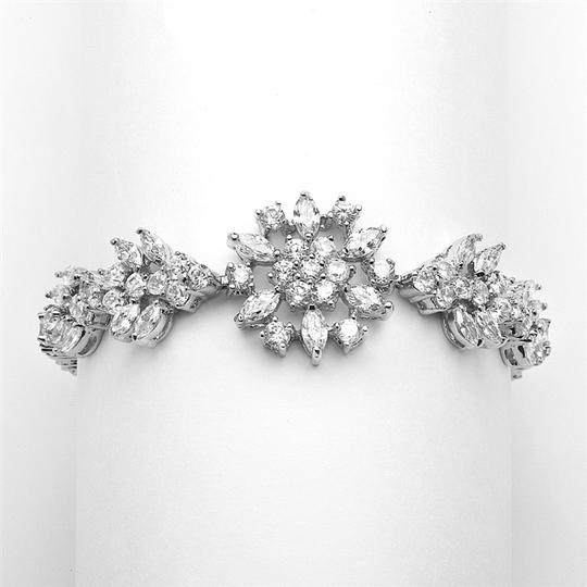 """Mariell Top Selling Marquis Cluster Wedding Or Pageant Bracelet 6 7/8"""" 4239b"""