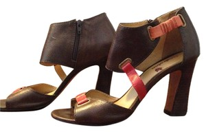 Farylrobin Faryl Robin Leather Brown Brown/Pink Sandals