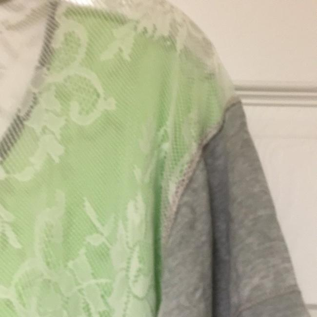 BKE T Shirt Lime Green With Gray Sleeves