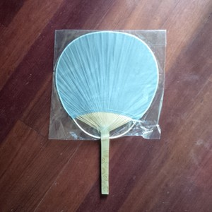 100 Gray Paddle Hand Fans