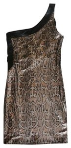 2b bebe Snakeprint Leather Mini Dress