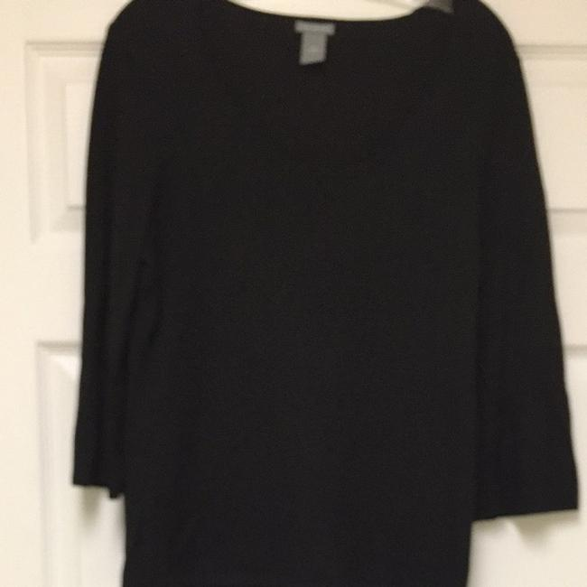 Preload https://item3.tradesy.com/images/ann-taylor-black-blouse-size-14-l-3992857-0-0.jpg?width=400&height=650