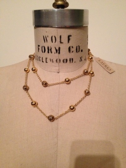 Ralph Lauren Gold-Tone Long Beaded Station Necklace