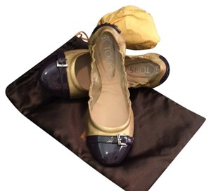 Tod's purple/gold Flats