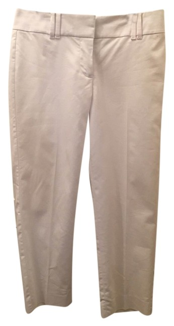 Ann Taylor Double Hook Relaxed Fit Capris White