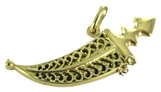 Preload https://item4.tradesy.com/images/gold-unique-18kt-karat-yellow-pendant-dagger-in-shields-charm-399333-0-0.jpg?width=440&height=440