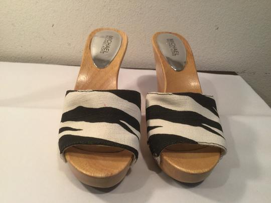 Michael by Michael Kors Black and white Wedges