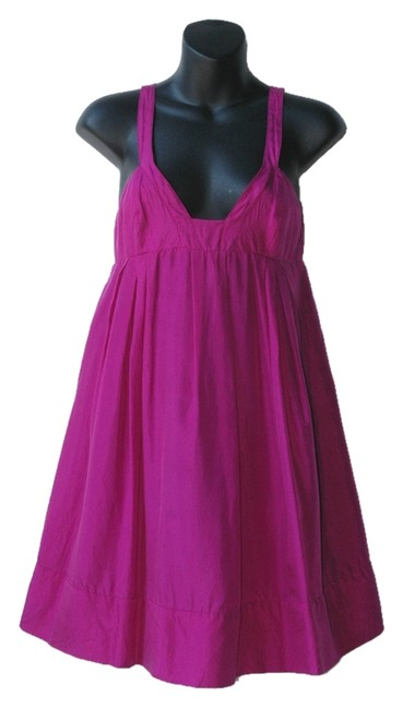 Preload https://item1.tradesy.com/images/graham-and-spencer-bubble-silk-deep-plunge-dress-pink-3993445-0-0.jpg?width=400&height=650