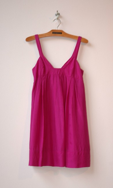 Graham & Spencer short dress pink Bubble Silk Deep Neckline on Tradesy