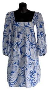 Hoss intropia short dress blue Beach Cover Up Print on Tradesy