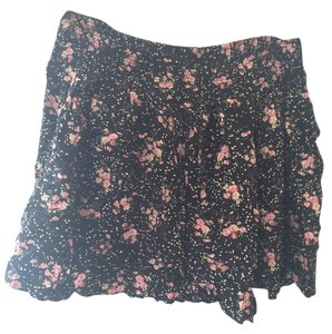 Cotton On Floral Pockets Waistband Mini Skirt Black Floral
