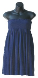 jets by jessika allen short dress navy Beach Coverup Strapless Sheer on Tradesy