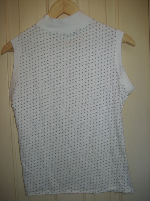 Charles Dexter High Neck Tank Made In France T Shirt white