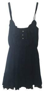 Gilly Hicks short dress Navy Blue Ruffles Feminine Girly on Tradesy
