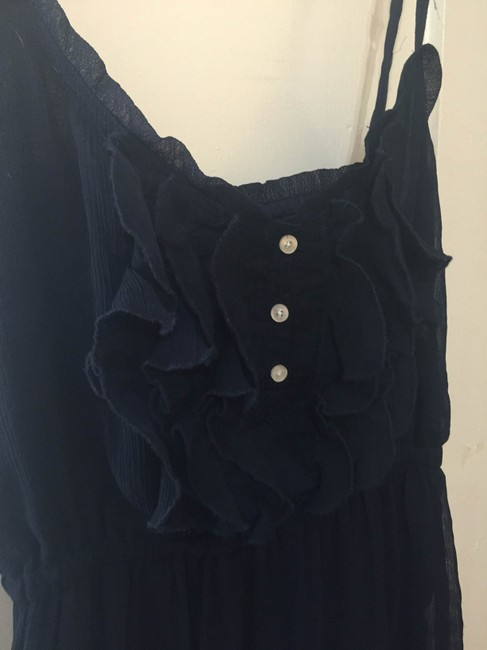 Gilly Hicks short dress Navy Blue Ruffles Feminine on Tradesy