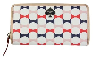 Kate Spade * Kate Spade Bow Tie Print Zip Around Wallet