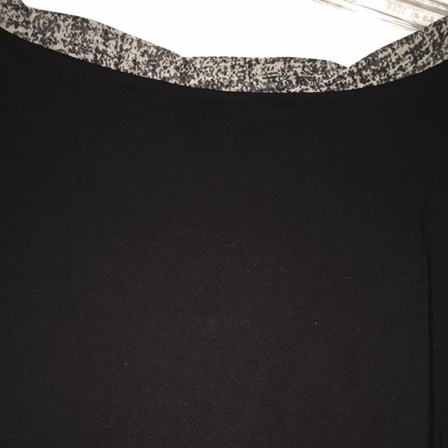 Ann Taylor Top Black With Print Bow Image 3