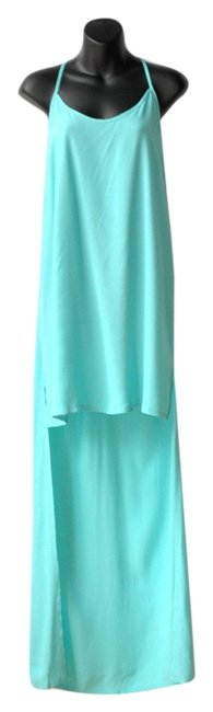 Preload https://item4.tradesy.com/images/pink-stitch-shorter-at-front-maxi-dress-turquoise-3993868-0-0.jpg?width=400&height=650