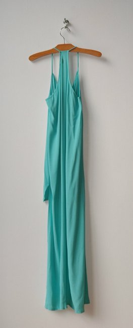 turquoise Maxi Dress by pink stitch At Front Longer At Back