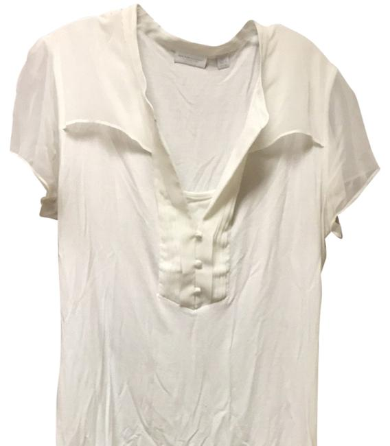 New York & Company Top Ivory White