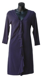 Splendid short dress navy Straight Ruffles Stretch on Tradesy