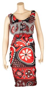 Christian Lacroix short dress Red/Multi Color on Tradesy