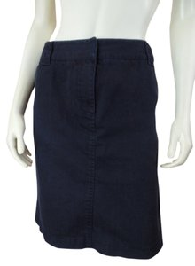Kenneth Cole Reaction Denim Front Zip Pockets Spandex Stretchy Sexy Waistband Straight Skirt Black