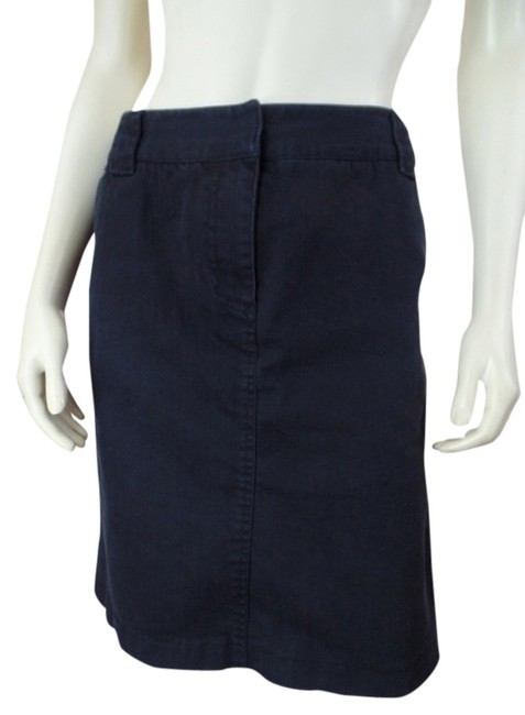 Kenneth Cole Reaction Denim Front Zip Pockets Cotton Spandex Stretchy Sexy Waistband Straight Skirt Black