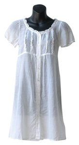 Teenflo short dress white Sheer Shirt Ruffles Cover Up Silk on Tradesy