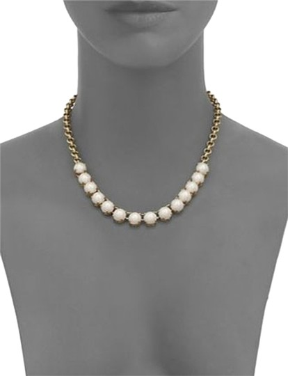 Kate Spade Squared Away Faux Pearl Necklace