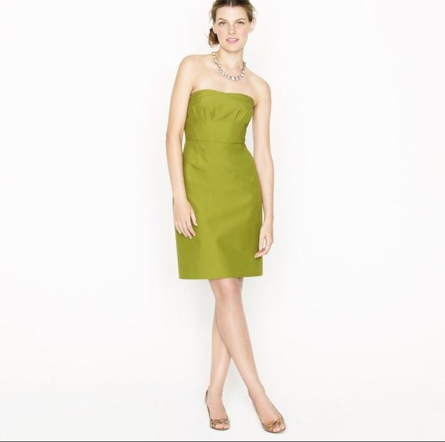 Item - Green Cotton Casual Bridesmaid/Mob Dress Size 2 (XS)