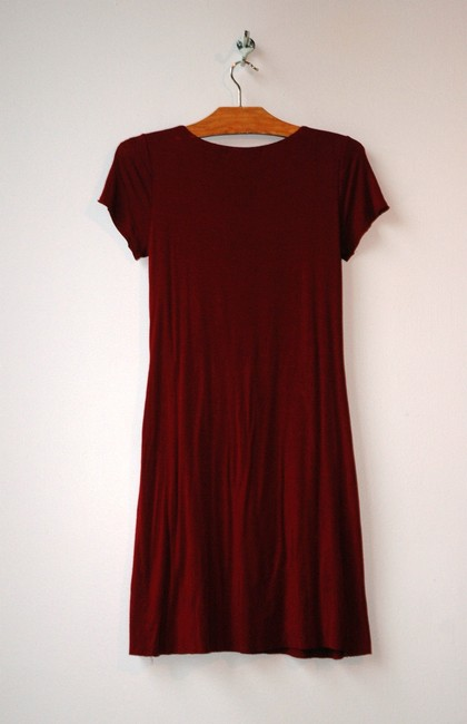 Velvet by Graham & Spencer short dress red Front Knot Stretch on Tradesy