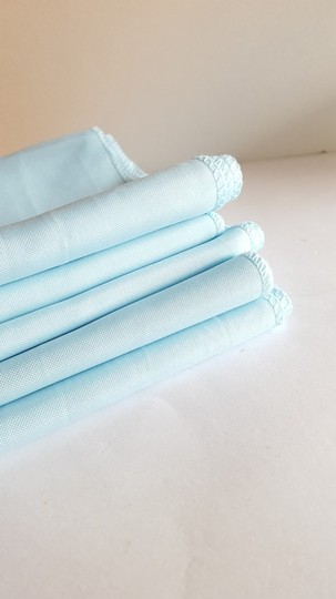 5 Light Blue Serenity Polyester Chair Sashes